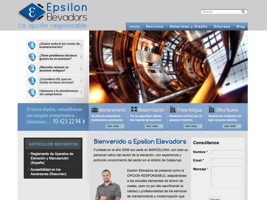 Epsilon Elevadors WebVai WordPress