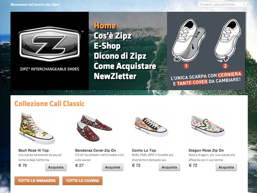 Zipz Shoes Web Ecommerce